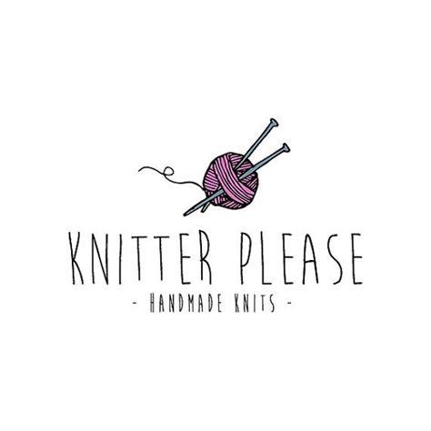 the knit company knitter logo design knit logo yarn logo premade logo