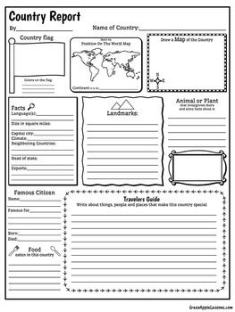 country report template image collections templates