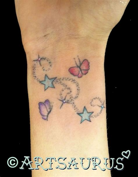 cute wrist tattoos butterfly on wrist with name www imgkid the