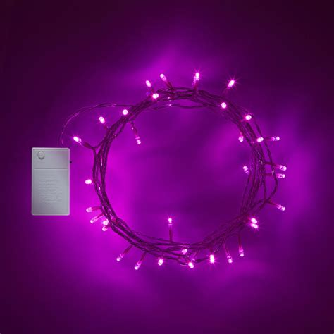 40 Led Pink Battery Operated Fairy Lights Lights4fun Co Uk Battery Lights Uk