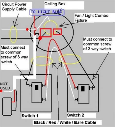 ceiling fan 3 way switch wiring diagram variations free
