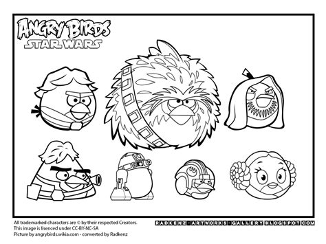 Radkenz Artworks Gallery May 2013 Coloring Pages Angry Birds Wars