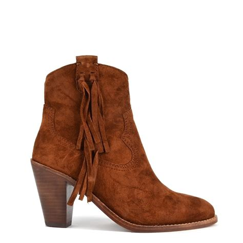 ash stella sigaro brown suede tassel ankle boot