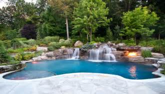 inground pool with waterfall more to pools the sims forums