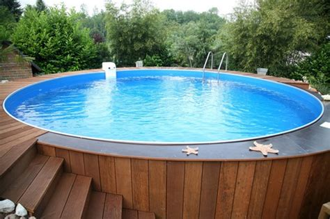 swimming pool holz above ground pool decks 40 modern garden swimming pool