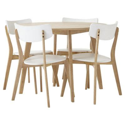 buy dining table and 4 chair set oak effect