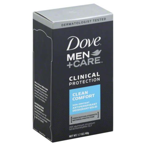 dove men care clean comfort ingredients dove men s care clinical protection clean comfort 1 7 oz