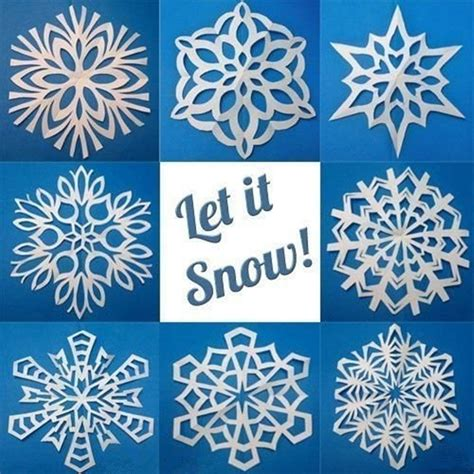 How To Make Really Cool Paper Snowflakes - creative ideas 8 easy paper snowflake templates