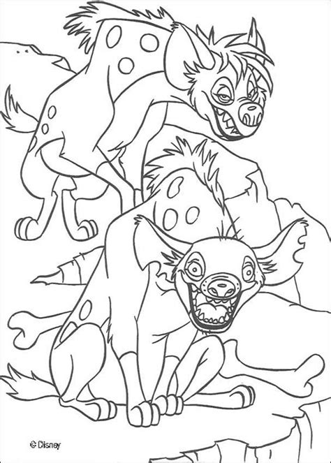 lion king hyenas coloring pages shenzi and banzai the hyenas coloring pages hellokids com