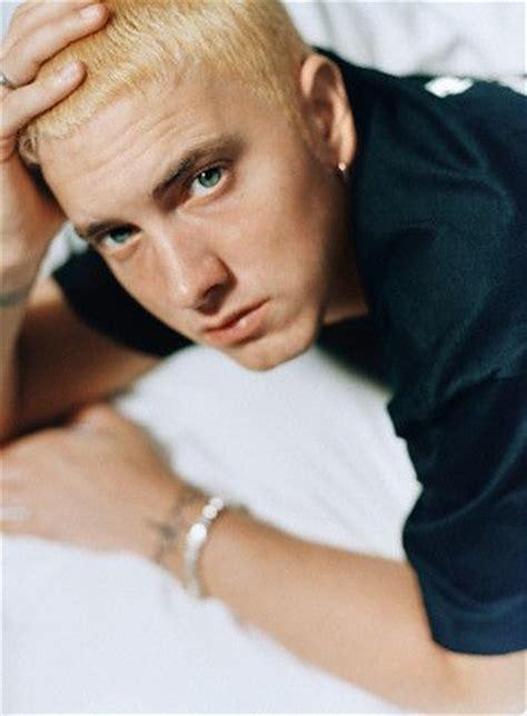 eminem eye color bed blonde blue eyes eminem hip hop image 342982 on
