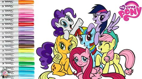 my pony color my pony color coloring book page mane 6 rarity