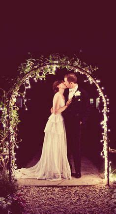 Garden Arch With Lights Lights Wedding On