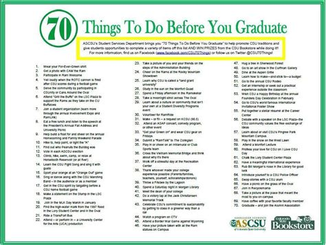 Do You To An Mba Before A Phd by Csu Traditions 70 Things To Do Before You Graduate