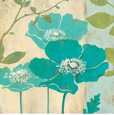 Poppy Wallpaper 5592 by Modern Blue Poppy Print By Stefania Ferri At