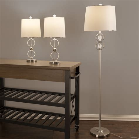 table lamp  floor lamp set   modern brushed steel led living room lighting  ebay