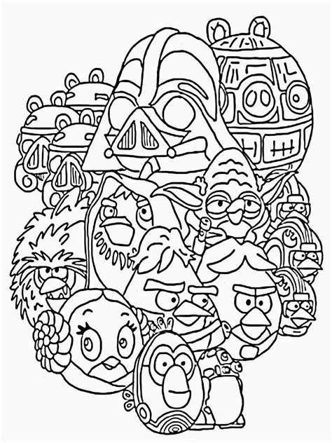 Coloring Pages For Kids Printable Printable Coloring Pages Coloring Pages Angry Birds Wars
