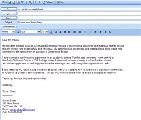 Cover Letter Email Template – Application Letter Sample: Cover Letter Template Email