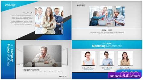 company profile 187 free after effects templates after