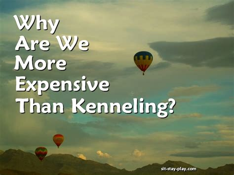 kenneling a why are we more expensive than kenneling