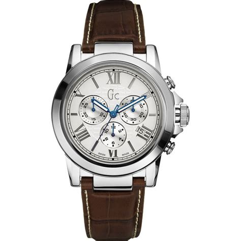 Gc Guess Leather Brown gc s brown leather b2 class chronograph