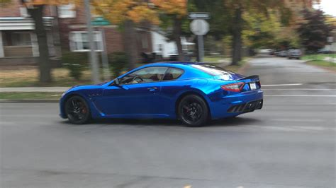 chrome blue maserati chrome blue maserati granturismo mc stradale os 1334x750
