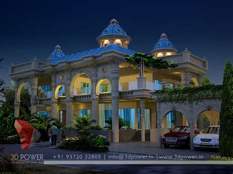gallery architectural  bungalow rendering modern