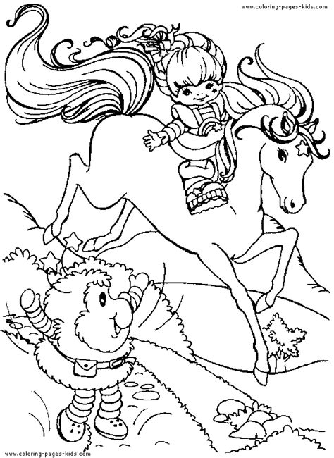rainbow brite coloring pages free printable rainbow brite color page cartoon color pages printable