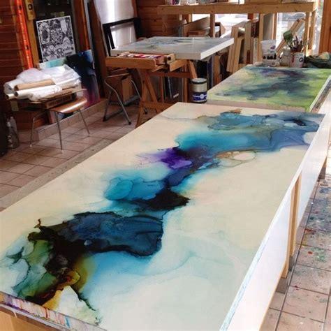epoxy resin countertops diy art encaustic modernist photoshots   countertop ideas diy