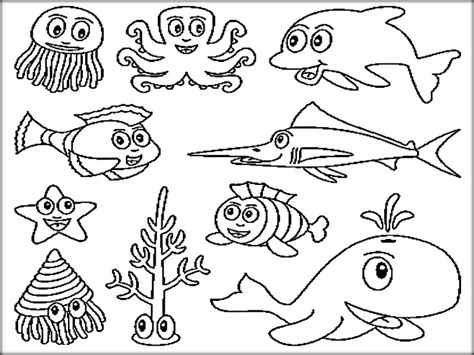 ocean coloring pages preschool underwater ocean animals coloring pages for preschool