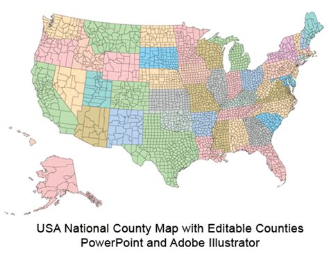 map of counties in us usa county world globe editable powerpoint maps for
