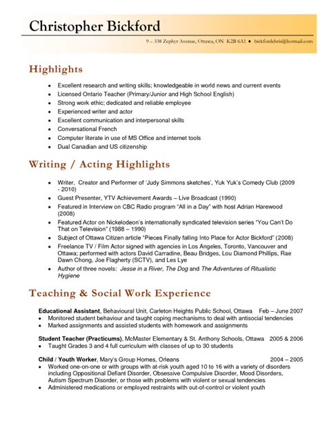 Resume Exles For Secondary Teachers Homeschool Resume Best Resume Collection