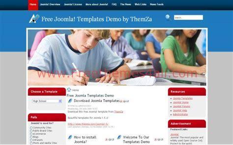 template joomla school free school blue joomla template jpg freethemes4all