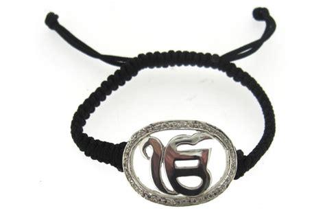 Buy Ik Onkaar Bracelet in Silver with Diamond Online in India at Best Price   Jewelslane