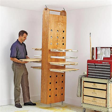 modular home plans woodworker magazine drop down drying rack woodworking plan from wood magazine