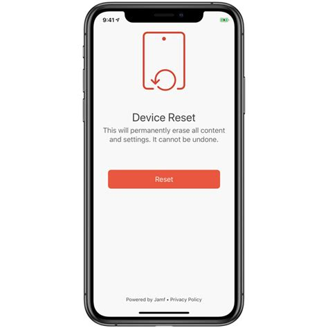 jamf launches setup  reset apps  assist  iphone