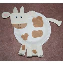 Paper Plate Cow Craft - paper cow related keywords suggestions paper cow