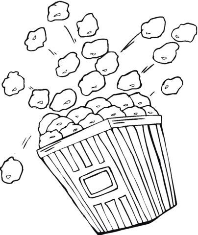 coloriage sachet de popcorn coloriages 224 imprimer gratuits