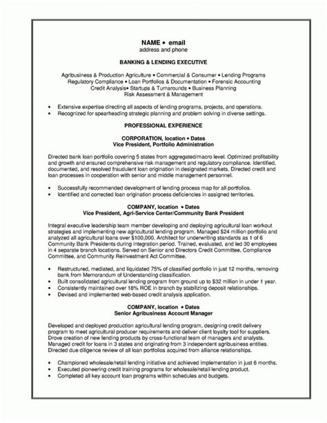 Bank Risk Manager Sle Resume by Credit Risk Manager Resume Sle For Bank Manager Resume Template Resume Builder