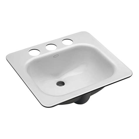 Home Depot Bath Sinks Kohler Kohler Archer Mounted Bathroom Sink In White K R2355