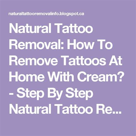 natural tattoo removal cream 25 best ideas about removal on
