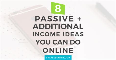 passive income highly profitable passive income ideas on how to make money and start your own business affiliate marketing dropshipping kindle publishing cryptocurrency trading books 8 passive additional income ideas you can do