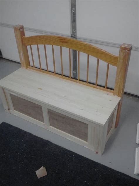benches made from headboards toy bench made from repurposed headboard by todd