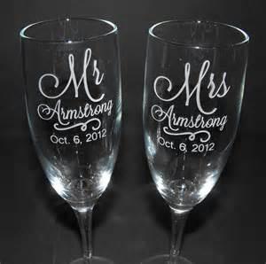 personalized wedding flutes