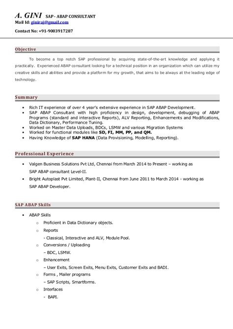 Resume Objective For Yogurtland Abap Consultant Resume Resume Ideas