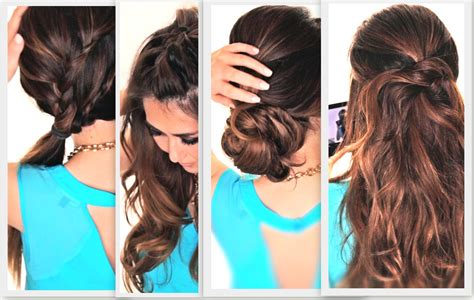 easy go lazy girl hairstyles that make you look awesome 6 easy lazy hairstyles cute everyday hairstyle youtube