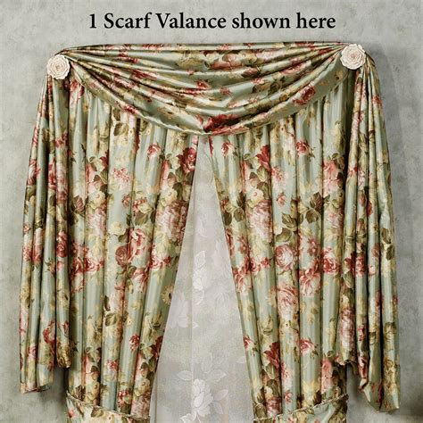 Summerfield Floral Scarf Valance And Curtains