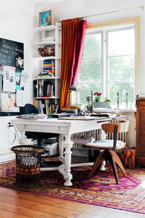 chic home office desk 40 floppy but refined boho chic home office designs digsdigs