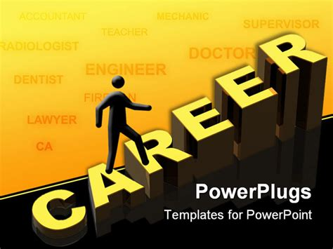 3d career opportunities on the grey background powerpoint