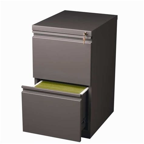 2 drawer mobile file cabinet in med tone 19358