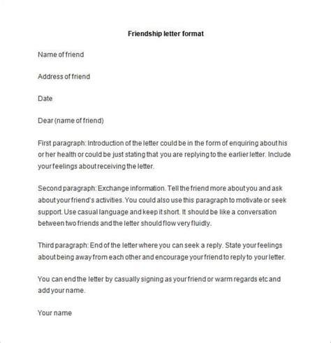 formal letter template 2 49 friendly letter templates pdf doc free premium 1234